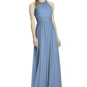 Light blue open back gown - The Dessy Group